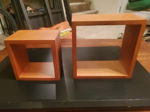 Cubic wall shelves (set of 2) for Sale in Virginia Beach, VA
