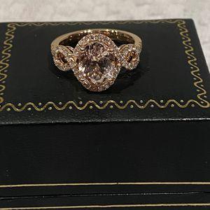 14 Karat Diamond & Morganite Ring for Sale in Haslet, TX