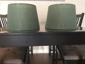 Green lamp shades (set of 2) for Sale in Arlington, VA