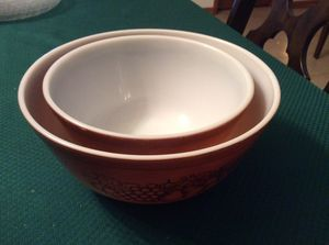 Pyrex 1956 Old Orchard bowl set in great condition for collectors for Sale in Miami, FL