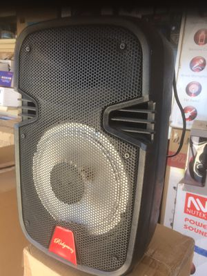 Rechargeable Bluetooth speaker/eight inch/1,500 watt/fm radio/aux input/USB port and SD slot/includes microphone/new in box for Sale in Moreno Valley, CA