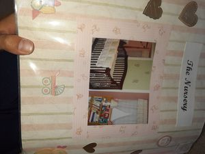 Cherry wooden baby crib all pieces great condition all hardware included for Sale in Chesapeake, VA