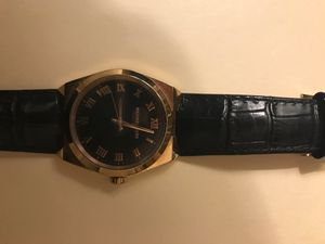 Michael Kors pink gold plated with black leather band sold with pink gold bracelet for Sale in Bethesda, MD