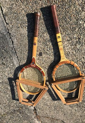 Vintage Wooden Tennis Rackets for Sale in Seattle, WA