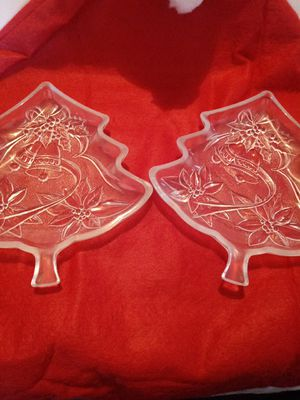 Set of Crystal Christmas candy dishes for Sale in Temecula, CA
