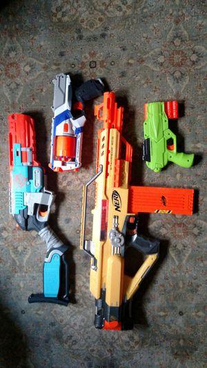 4 nerf guns for Sale in Trenton, NJ