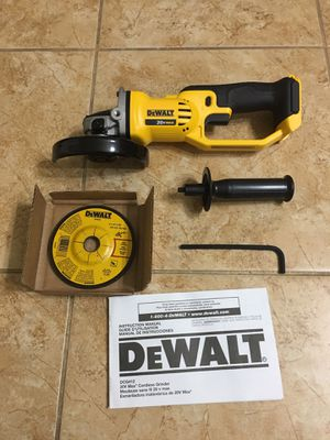 DEWALT DCG412 20-Volt MAX Lithium-Ion Cordless 4-1/2 in. to 5 in. Grinder (Tool Only) for Sale in Laveen Village, AZ