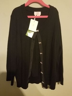 Kate Spade Afton cardigan gifted black with bow buttons women size M for Sale in Springfield, VA