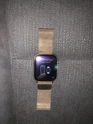 Gold Apple Watch Series 4 Stainless Steel 44mm for Sale in Queens, NY