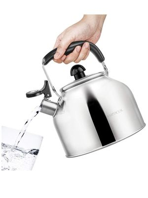 Tea Kettle Whistling Teapot for Stovetop, Stainless Steel Teakettle with Fast Boiling Base, 3 Quart for Sale in Irvine, CA