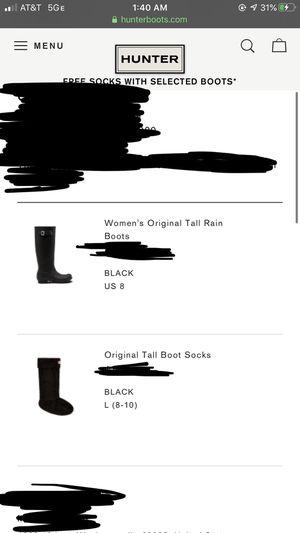 Hunter rain boots for Sale in Waukegan, IL