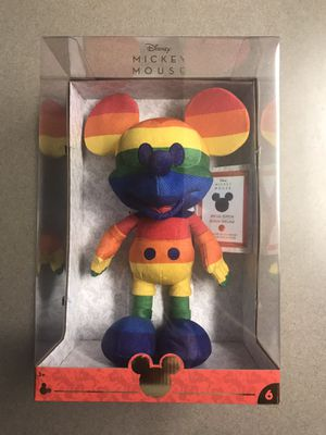 Rainbow Mickey Mouse Plush Disney Limited Edition MINT SEALED for Sale in Dallas, TX
