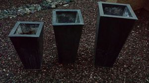 S-M-L plant holders set outdoor black metal stands for Sale in Buckeye, AZ