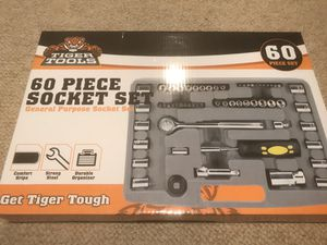 60 Piece Socket Wrench Drill Bit Tool Set for Sale in Bethesda, MD