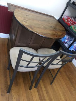 Bar and stools. Metal stools. for Sale in Efland, NC