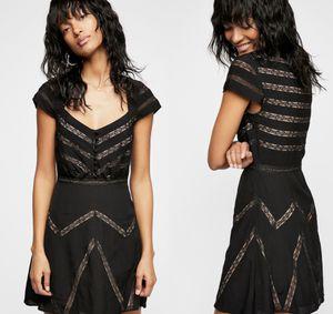 NWT $250 Free People Black Elle Mini Lace Dress 2 for Sale in Norcross, GA