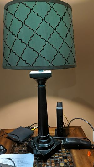 Lamp W/ Bluish Mint Shade for Sale in Nashville, TN