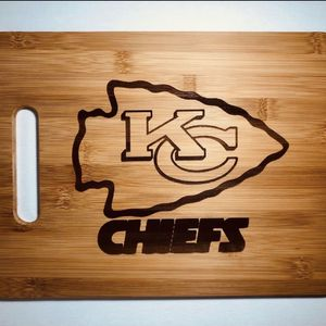 Kc chiefs NFL laser engraved cuttingboard Christmas gift kitchen pop for Sale in Los Angeles, CA
