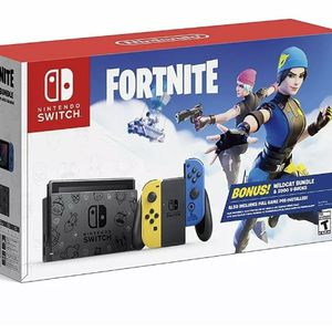 Nintendo Switch Console Fortnite Special Edition WILDCAT BUNDLE Ready to play Brand New & Sealed for Sale in Ellicott City, MD