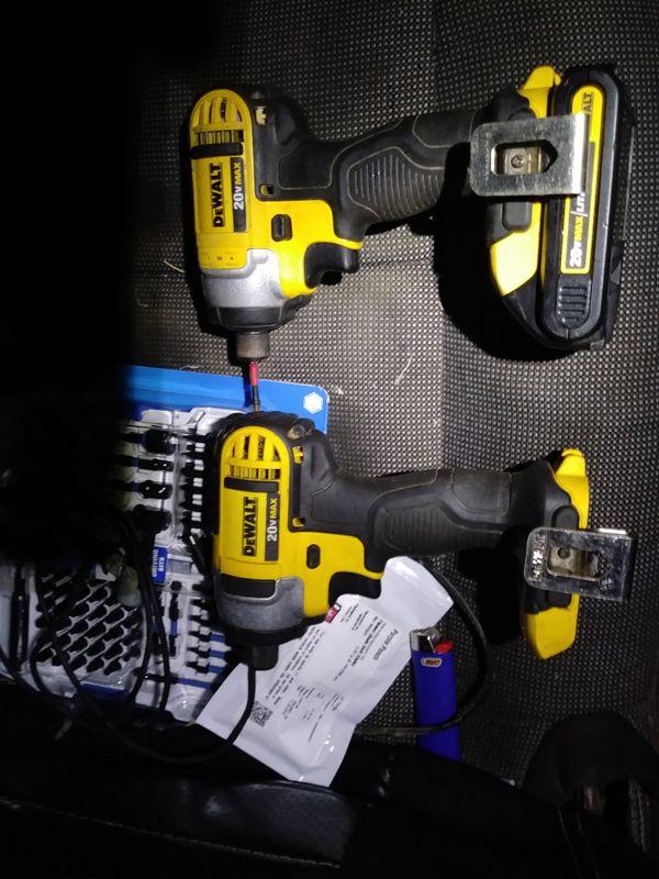 Dewalt impact drills 20volts,like new