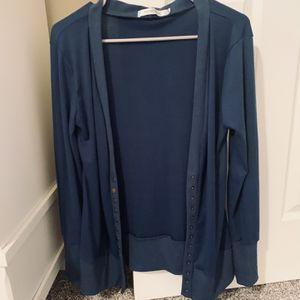 New- Navy Blue Nenona Cardigan New - Never worn Size Medium - but runs big for Sale in South Jordan, UT