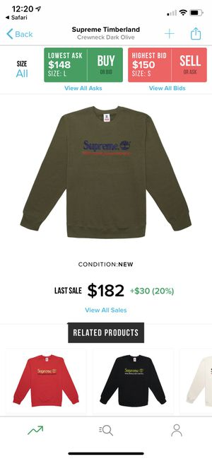 Supreme x Timberland crewneck for Sale in Fremont, CA