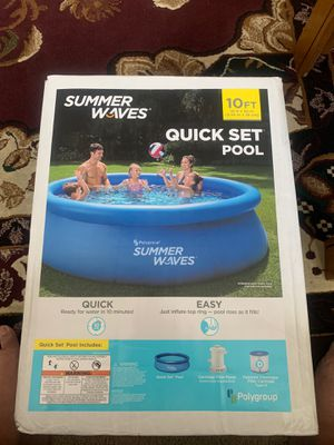 Summer waves 10ft pool with pump and filter brand new sealed for Sale in Livingston, CA