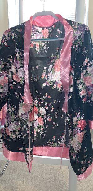Silk Floral Kimono Style Robe for Sale in Frederick, MD