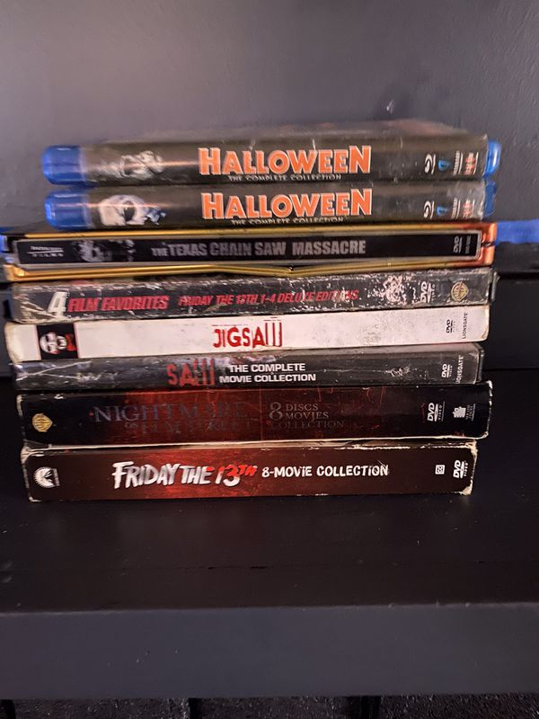 Horror movie collections dvd sets 8 sets chucky will be included