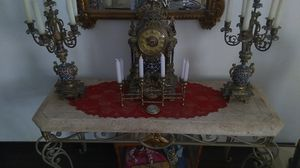 Eastern European timepiece with candelabras for Sale in Las Vegas, NV