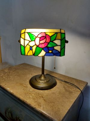 Vintage Tiffany Style stained glass banker's lamp for Sale in Salt Lake City, UT