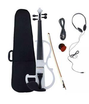 🔥 NEW 4/4 Electric Silent Violin Fiddle with Accessories Case White for Sale in Miami, FL