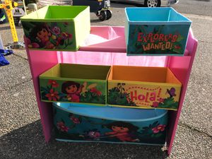 Dora the explorer kids toy chest bin for Sale in Renton, WA