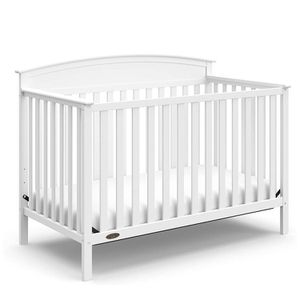 Graco Benton 4-in-1 Convertible Crib, White, Solid Pine and Wood Product Construction, Converts to Toddler Bed or Day Bed for Sale in Suwanee, GA