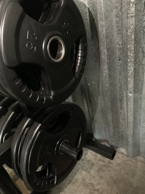 Rubber Grip Olympic Weights for Sale in Kent, WA