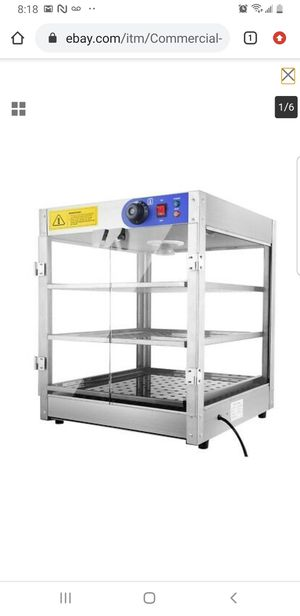 Commercial Food Warmer Court Heat Food pizza Display Warmer Cabinet 3-Tier Glass for Sale in Bellflower, CA