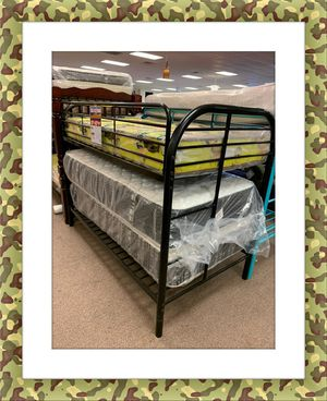 Twin twin bunk bed frame new for Sale in Hillcrest Heights, MD