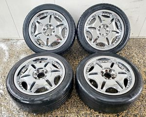 4 17 in 4x100 4x114.3 wheels rims tires for Sale in Germantown, MD
