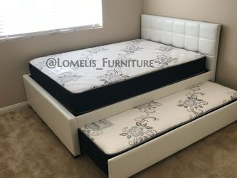Full/twin size Trundle Bed With Mattress Included for Sale in Corona,  CA