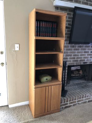 Two Oak book Shelves to adjustable shelves for Sale in Norcross, GA
