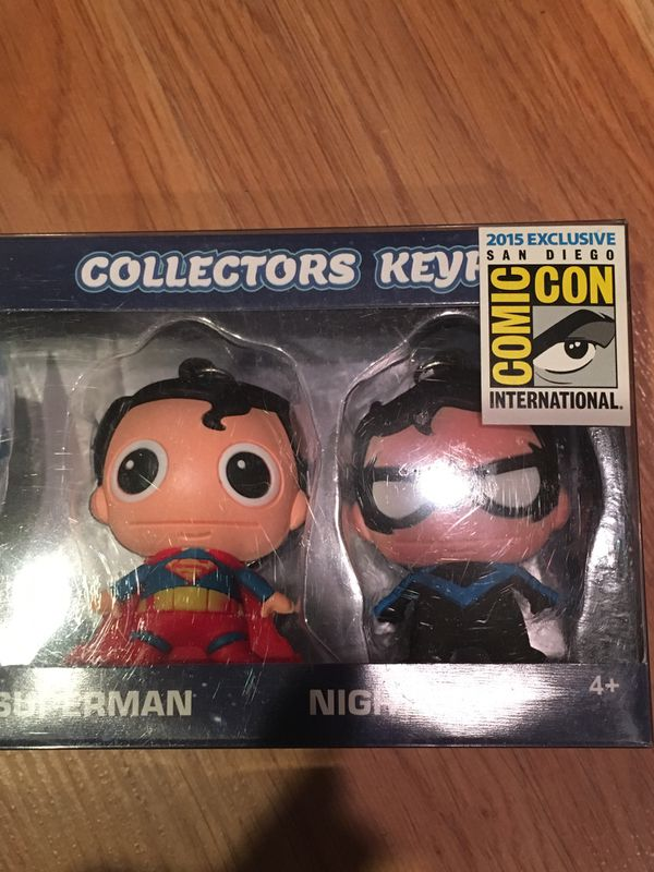 DC Collector Keyring Five Pack SDCC 2015 Exclusive