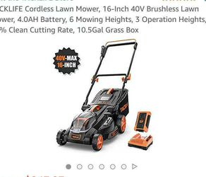Cordless Lawn Mower, 16-Inch 40V Brushless Lawn Mower for Sale in Rowland Heights,  CA