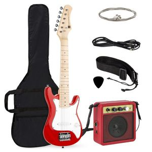 30in Kids Electric Guitar Beginner Starter Kit w/ 5W Amplifier, Strap, Case, Strings, Picks - Red for Sale in Dublin, OH