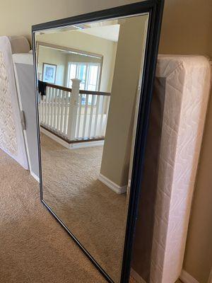 61inchx47in Navy Blue framed Mirror for Sale in Irvine, CA