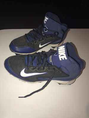NIKE Huarache Keystone Mid Blue Molded Baseball Cleats for Sale in Boston, MA