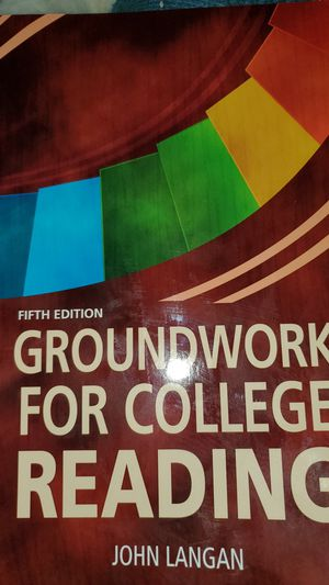 Fifth edition, Groundwork for College Reading by John Langan for Sale in Grafton, MA