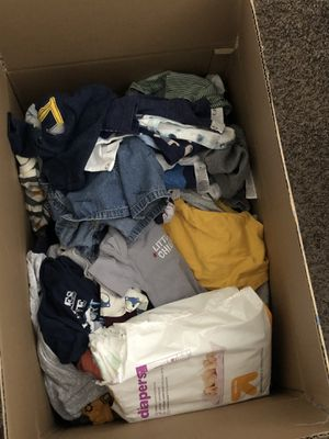 Big box of newborn clothes for Sale in Austin, TX