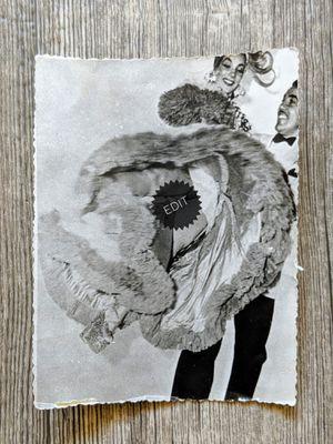 "Vintage photograph of movie stars Carmen Miranda and Cesar Romero 1940s black & white glossy 3.5"" x 4.5"" for Sale in Scottsdale, AZ"