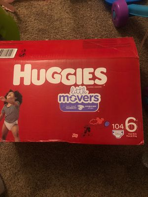 Huggies size 6. Little movers diapers 52 count pack for Sale in Queen Creek, AZ