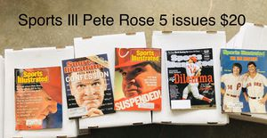 Sports illustrated Pete Rose 5 issues for Sale in Lyman, SC